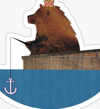 Cheltenham the Bear: Fishing Trip Sticker