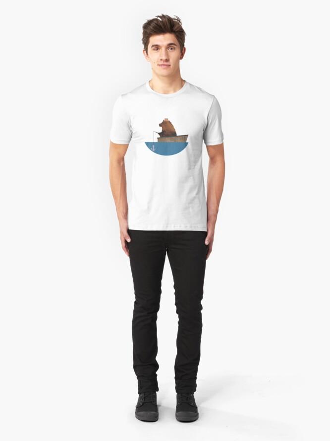 Alternative Ansicht von Cheltenham der Bär: Angelausflug Slim Fit T-Shirt