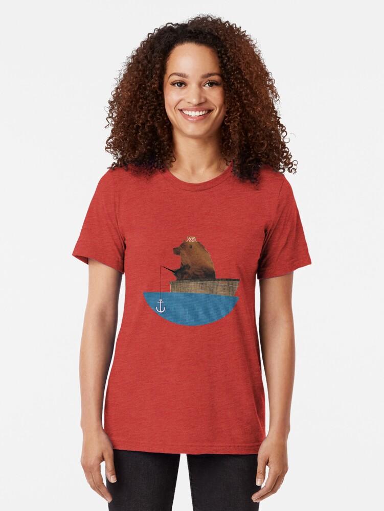Alternative Ansicht von Cheltenham der Bär: Angelausflug Vintage T-Shirt