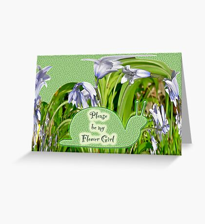 Flower Girl Request - Purple Hyacinths Greeting Card