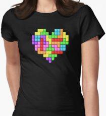 Tetris heart Women's Fitted T-Shirt