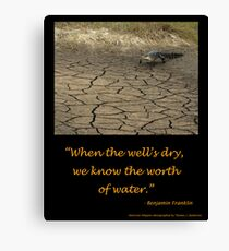 Worth of Water Canvas Print
