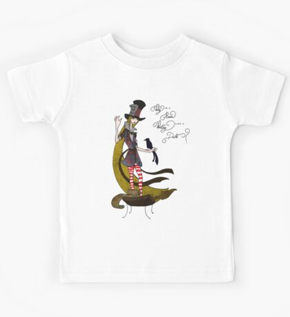 Mad Alice: Why is a Raven like a Writing Desk? Kids Clothes