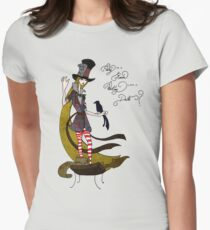 Mad Alice: Why is a Raven like a Writing Desk? Womens Fitted T-Shirt