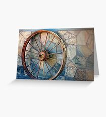 Wheel on the wall Greeting Card
