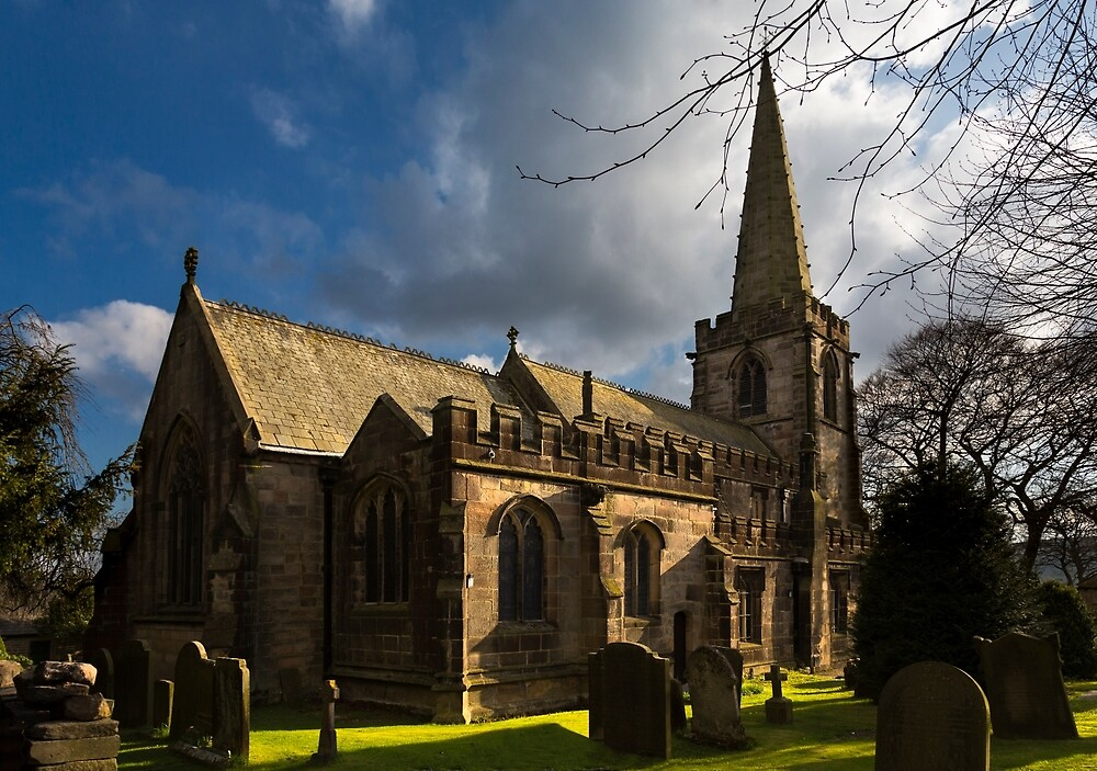 St Michael's Church in Hathersage by jasminewang