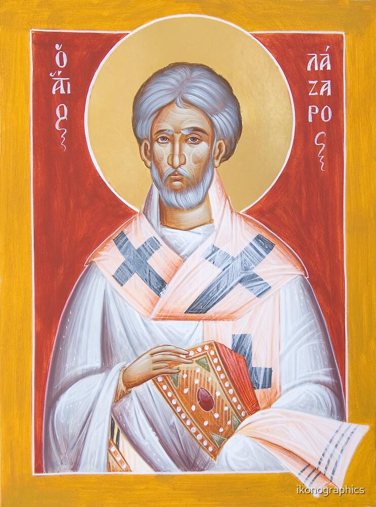 St Lazarus by ikonographics