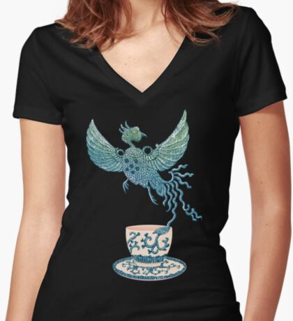 Phoenix Tea Women's Fitted V-Neck T-Shirt