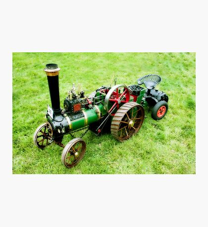 Miniature Vintage Traction Engine  Photographic Print