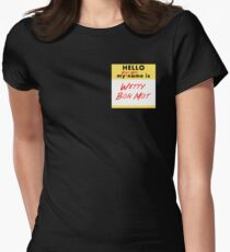 My Bond Girl Name is Witty Bon Mot Women's Fitted T-Shirt