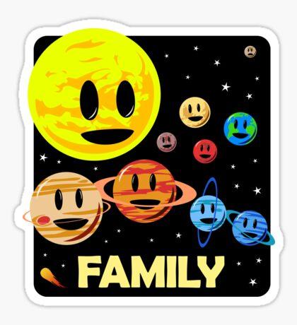 Solar System Family Sticker