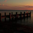 Jetty at Dusk by Andrew  Makowiecki
