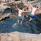 Synchronized jumping  by Darryl