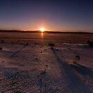 Setting Sun at Lake Cowan by Robin Young