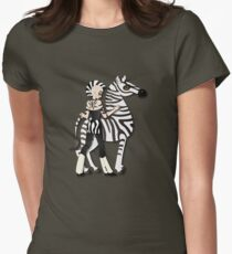 Twisted - Wild Tales: Etana and the Zebra Womens Fitted T-Shirt