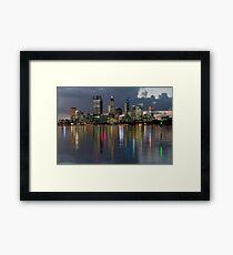 Perth City Skyline 2012 Framed Print
