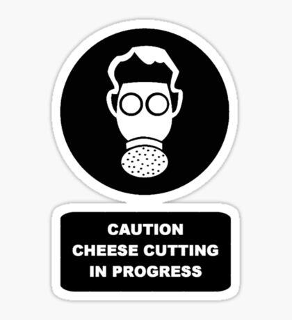 Cheese Cutting Sticker