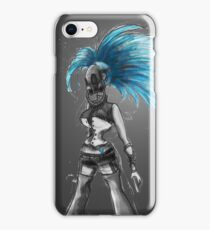 Rainbow Punk: Cybernetic Blue iPhone Case/Skin