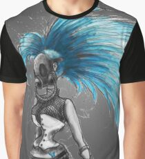 Rainbow Punk: Cybernetic Blue Graphic T-Shirt