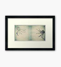 Jellyfish Diptych Framed Print