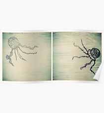 Jellyfish Diptych Poster