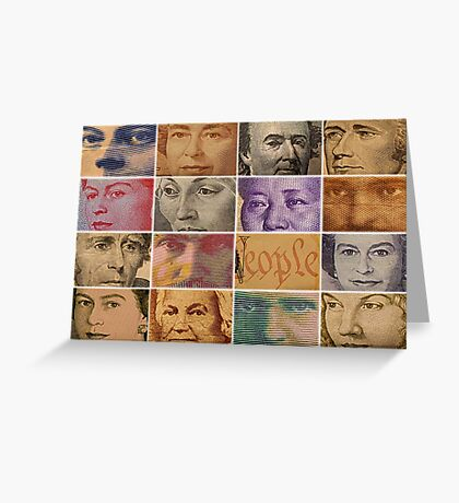 Peopled Money Greeting Card