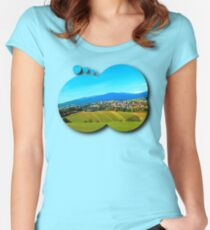 Unsettled geography Women's Fitted Scoop T-Shirt