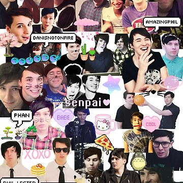 Dan and Phil Phan collage part 2 by pastelkitten