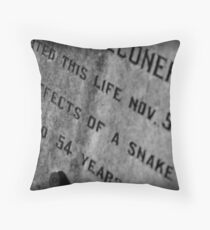 Pioneer Cemetery Throw Pillow