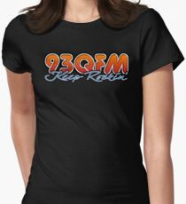 93 QFM Radio Womens Fitted T-Shirt