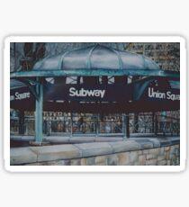 Subterranean Blues, New York City Sticker