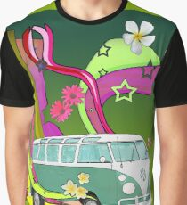 60's Van with Foulli and Gerbera Graphic T-Shirt