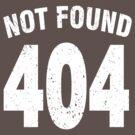 Team shirt - 404 Not Found, white by JRon