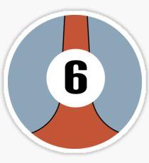 Race Winning #6 blue and orange racing livery Sticker