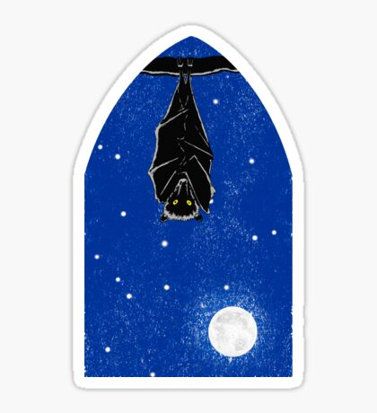 Bat in the Window Sticker