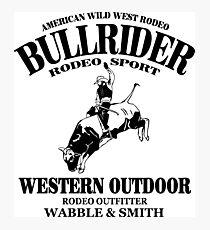 Bullrider Photographic Print