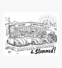 Scattered, Smothered & Slammed Photographic Print