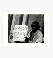 Homeless on the Street Art Print