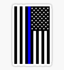 The Symbolic Thin Blue Line on US Flag Sticker