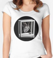 Heart 12x12, circle Women's Fitted Scoop T-Shirt