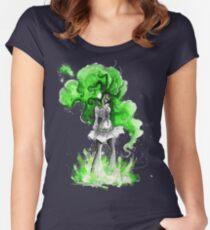 Rainbow Punk: Malachite Bassdrop Women's Fitted Scoop T-Shirt