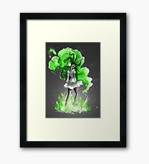 Rainbow Punk: Malachite Bassdrop Framed Print