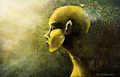 Alien in Yellow -Road of the Dessert by Barbora  Urbankova