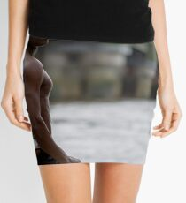 Physique on the Thames at Low Tide with Mandels Mini Skirt