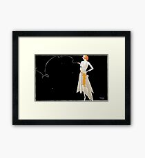 Vintage Where There's Smoke There's Fire Framed Print