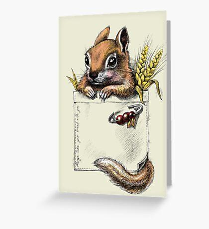 Pocket chipmunk Greeting Card