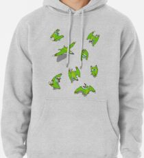 Tiny Pterosaur Bunch (Nemicolopterus) Pullover Hoodie