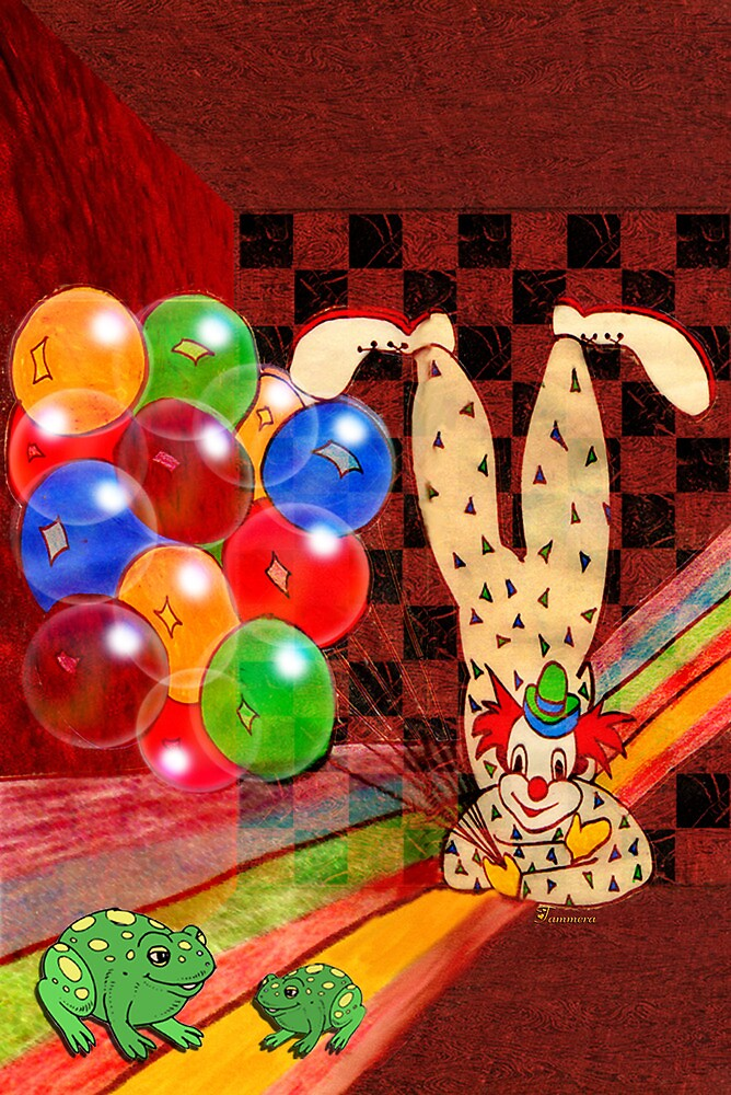 PARTY CLOWN AND FROGS by Tammera