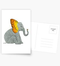 Elephant and Butterfly Postcards