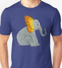 Elephant and Butterfly Unisex T-Shirt
